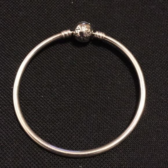 5372eedb7 Pandora s925 ale 6.7 inch bangle charm bracelet. M_5a9968db46aa7c3e05265945